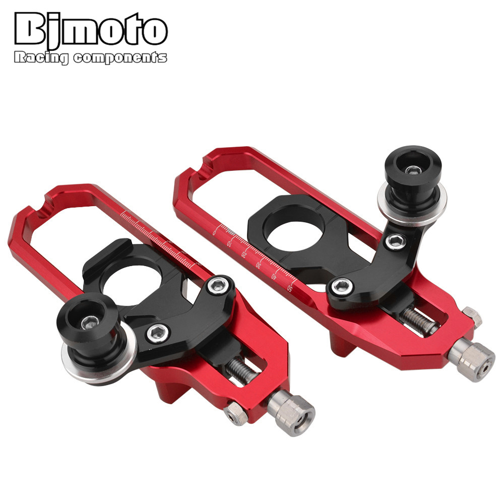 BJMOTO Motorcycle Accessories CNC Rear Axle Spindle Chain Adjuster with Spools For Suzuki GSXR600 GSXR750 2006