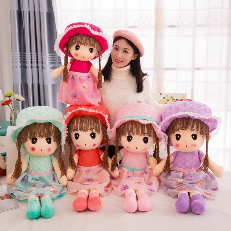 40/45cm Beautiful Doll Stuffed Toys Plush Animals Soft Kids Baby Toys For Girls Children Boys Birthday Gift Kawaii Cartoon