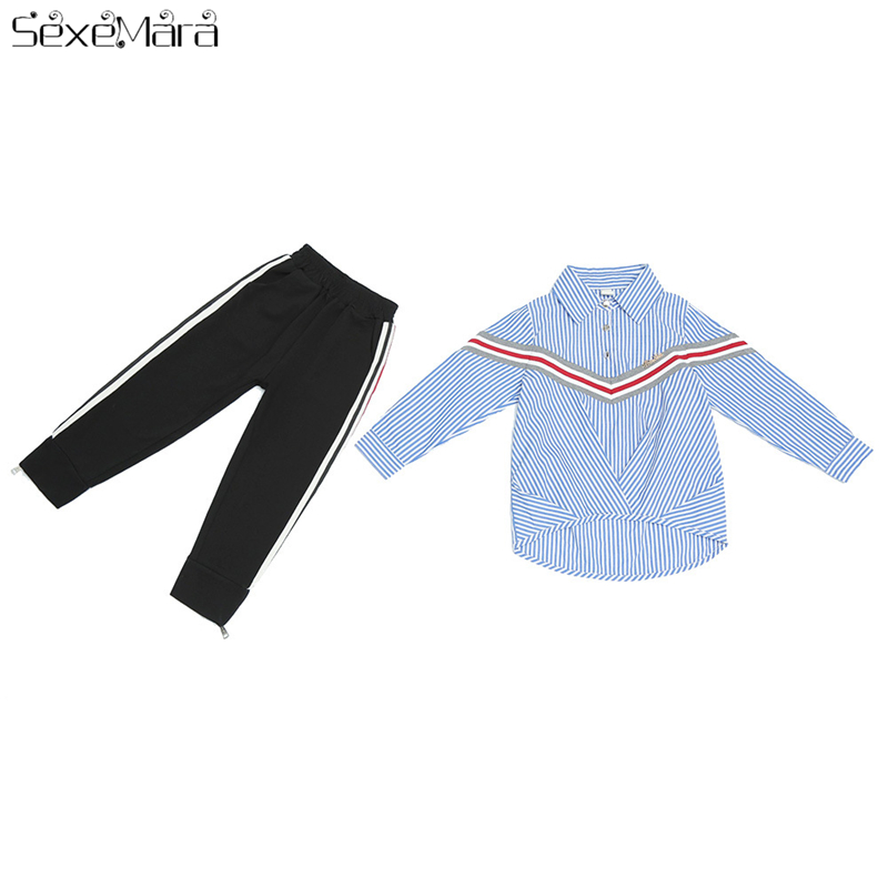 Baby Girl Clothes 2018New Summer Girls Clothes Long Sleeve T-Shirt+Pants Children Clothing Girls Summer Clothing Set bobo Choses sodawn baby girl clothes fashion cartoon girls summer set clothes baby suits kids t shirt pants children clothing set