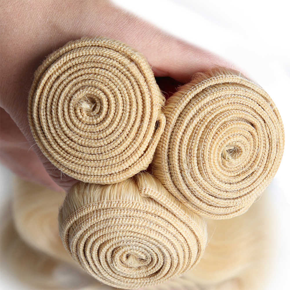 Maleisische Rechte Blond 613 Human Hair Bundels met Sluiting Remy Haar Lace Sluiting Met Menselijk Haar Bundels 4 stks/partij