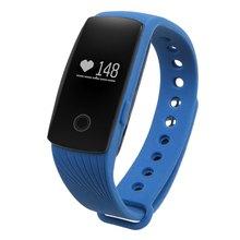 100% original de la moda id107 bluetooth smart watch con heart rate monitor podómetro cámara remota función de pulsera a prueba de agua