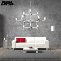 12 головок корона дизайн лампы подвесной светильник свеча подвесной светильник Led подвесные лампы современный двухслойный droplight Лофт