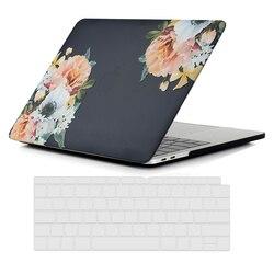 Dla nowego MacBook Air 13 Cal etui we wzór marmuru matowe matowe sztywne etui fit 2018 wydanie A1932 z wyświetlacz retina fit identyfikator dotykowy
