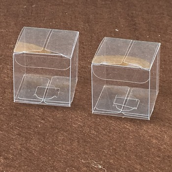 50pcs 15*15*15cm simple Clear  Wedding  PVC Box Gift Craft display Box small Jewelry packing holder Transparent plastic boxes