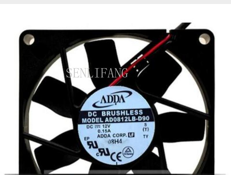 Free Shipping   80*80*15 12V 0.15A AD0812LB-D90 Dual Ball CPU Power Chassis Cooling Fan