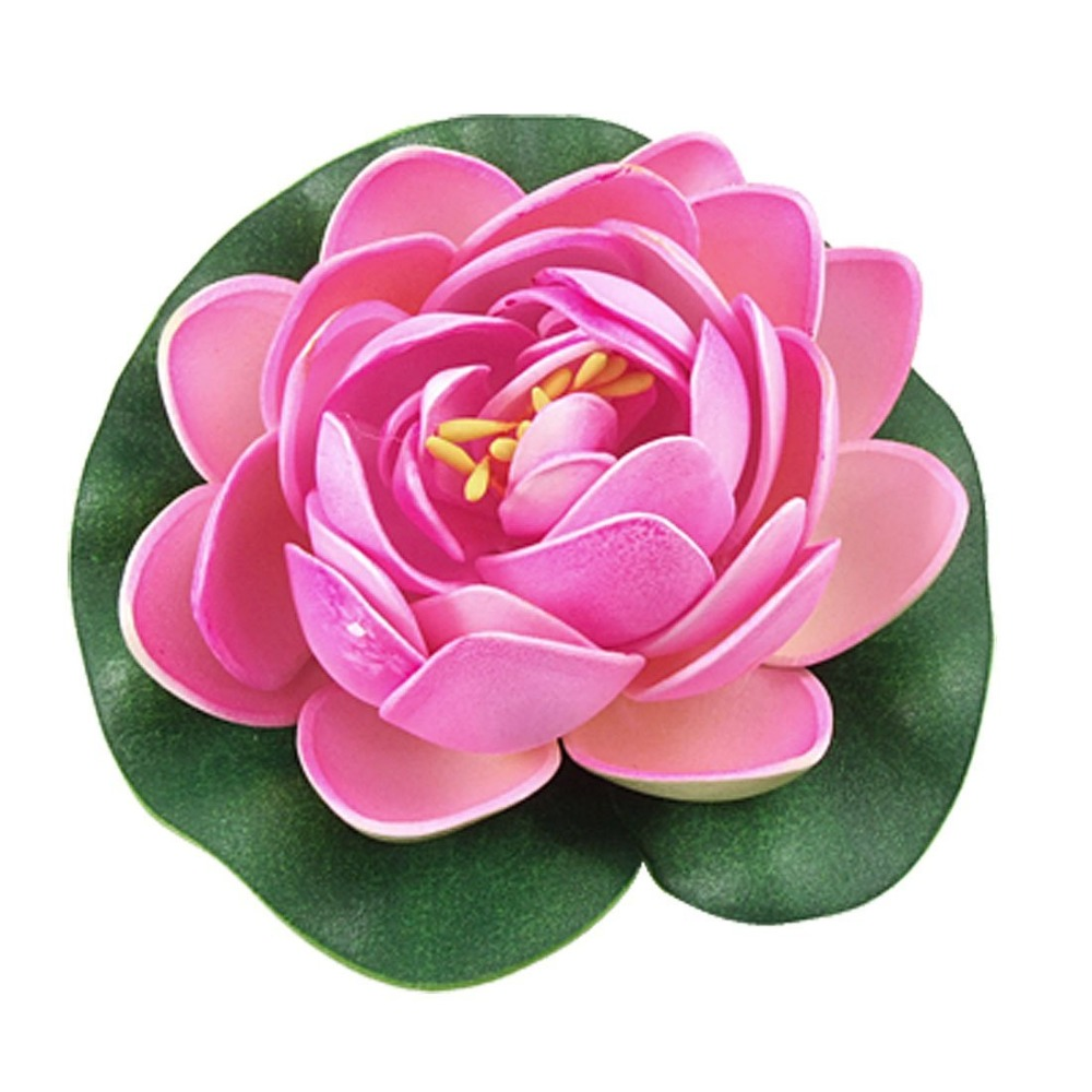 4Pcs 10cm Small Artificial EVA Lotus Floating Water Lily Blooming ...