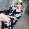 Summer maternity clothing shirts maternity sun-protective clothing pregnant coat outerwear print black  new style 16150