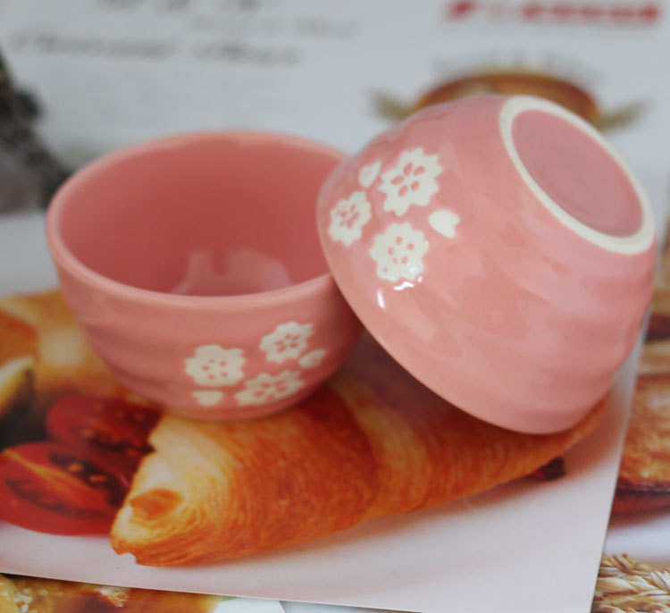 <font><b>Souffle</b></font> ceramic oven Pink plum <font><b>Souffle</b></font> <font><b>cup</b></font> baking baking bowl 8cm diameter 4.5cm height
