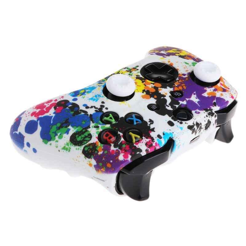 Камуфляж Камо силиконовый защитный кожи резиновый корпус крышки рукава для Xbox One X S контроллер протектор