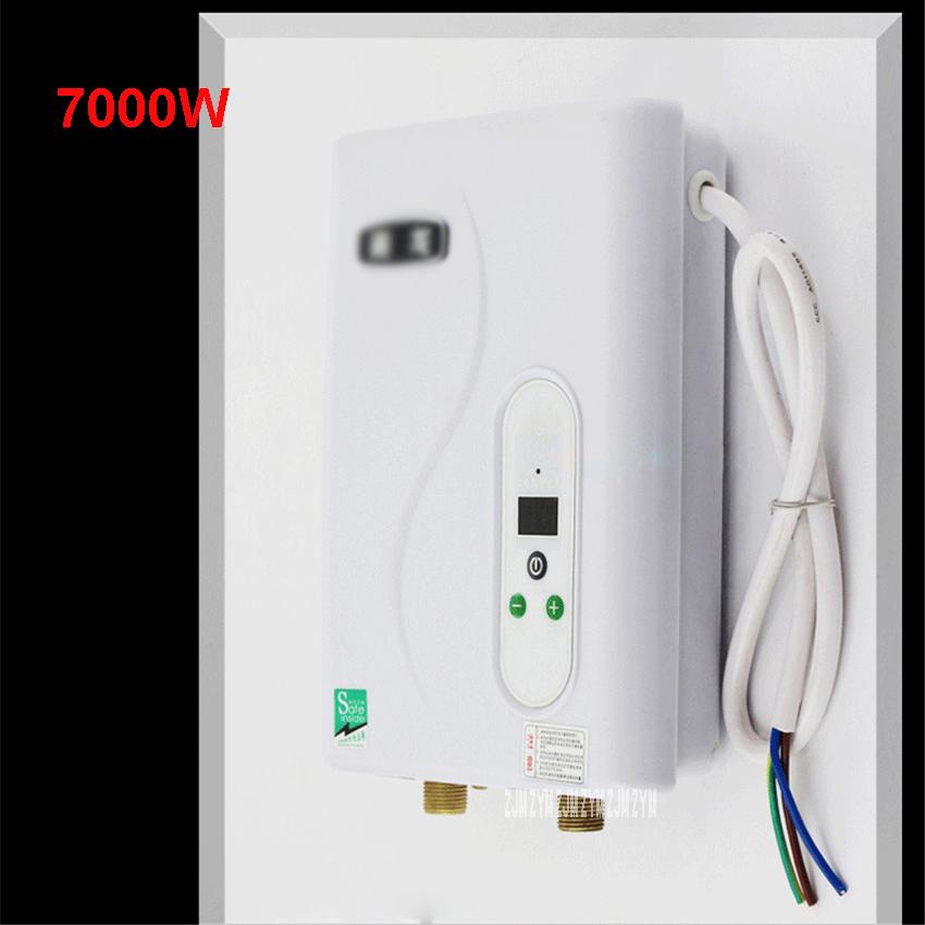 7000W Instantaneous Water Heater Instant Electric Tankless Water Heater Instant Electric Water Heating Shower 3 sec hot KLSD-70 3400w instantaneous water heater instant electric tankless water heater instant electric water heating shower 3 seconds hot