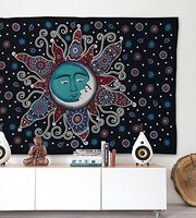 WARM TOUR Bohemian Decor Wall Blanket Indian Tapestry Sun Printing Mandala Wall Hippie Decor Boho Tapestry
