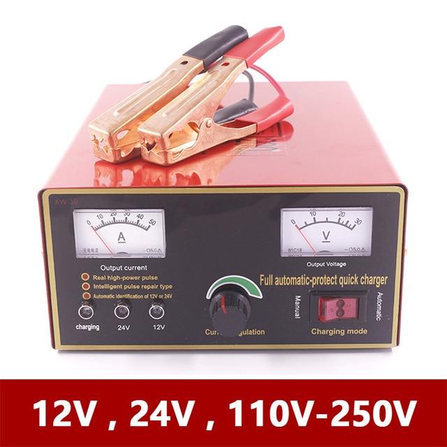 Große Power 12V 24V Intelligente Batterie Ladegerät für Automotive Motorrad Boot Gabelstapler Lkw Blei Säure Wartung freie Batterien