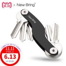 2999f7da1e9 NewBring auto sleutelhouder ketting Smart Key Portefeuilles ring collector  huishoudster Oxide Aluminium DIY EDC Pocket key