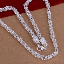 Серебряное ожерелье с цепочкой 925, модные ювелирные аксессуары, ожерелье с драконом для мужчин и женщин, 20 дюймов, рождественские подарки, бижутерия