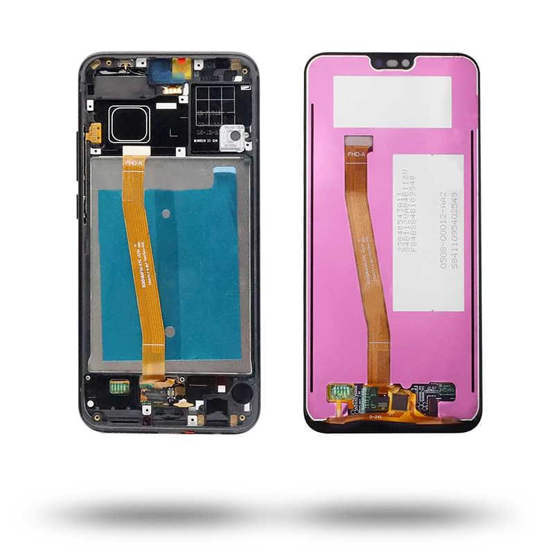 Màn Hình Cho Huawei Honor 10 LCD COL-L29 COL-L09 Màn Hình LCD Hiển Thị Màn Hình Bộ Số Hóa Bằng Vân Tay Cho Danh Dự 10 Màn Hình Hiển Thị Có Khung