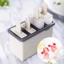 Главная DIY Мороженое Сэндвич-маркеры Box в том числе Popsicle Формы Ice Tray Мороженое Палочки Безопасный PP Кухонные инструменты Гаджеты 2 Box