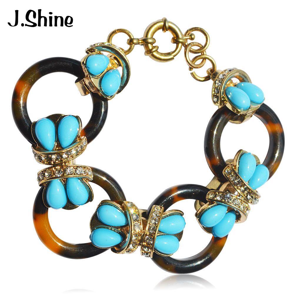 JShine личности популярный бренд Шарм Браслеты для Для женщин Кристалл себе браслет Pulseira Femini мать подарок браслет Femme