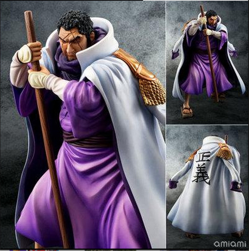 Anime One Piece POP World Government Fujitora Issho PVC 24cm gift Brinquedos toys decoration Collectible Model doll gift david gichoya government informatics
