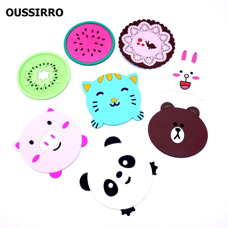 Multiple Cute Silicone Table Cup Mat Drink Coaster
