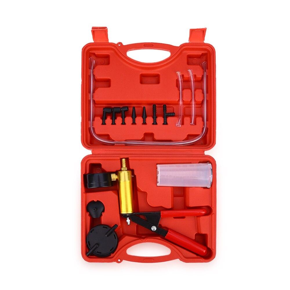 2 in 1 brake bleaker and vacuum pump tester tool kit brake fluid replacement hand-held vacuum pistol pump tester hydrodynamic fluctuations in fluids and fluid mixtures