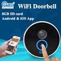 Новый Водонепроницаемый Беспроводной Дверной Звонок Дверной Звонок Видео-Телефон Двери С HD 720 P Ip-камера И Дверной Звонок Динамик Встроенный 8 Г TF карты