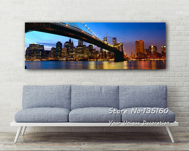 Modern Decor Painting Calligraphy New York London Stockholm City ...