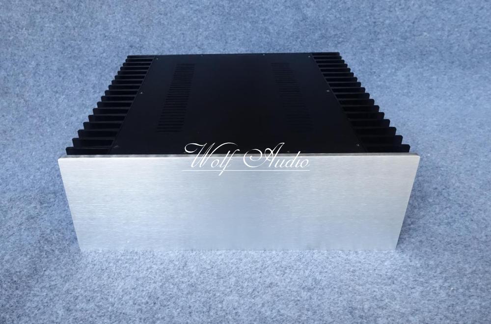 4315F Aluminum Power Amplifier Chassis Class A Amplifier Enclosure HiFi DIY Case 430MMX150MMX414MM iwistao ta2022 class t amplifier 2x90w toroidal transformer power supply ne5532 preamplifier solid aluminum chassis stereo hifi