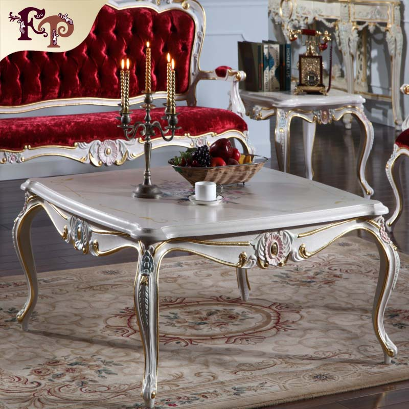 2015 New chesterfield leather table ,classic table leather living  antique hand carved wood furniture -Italian furniture brands