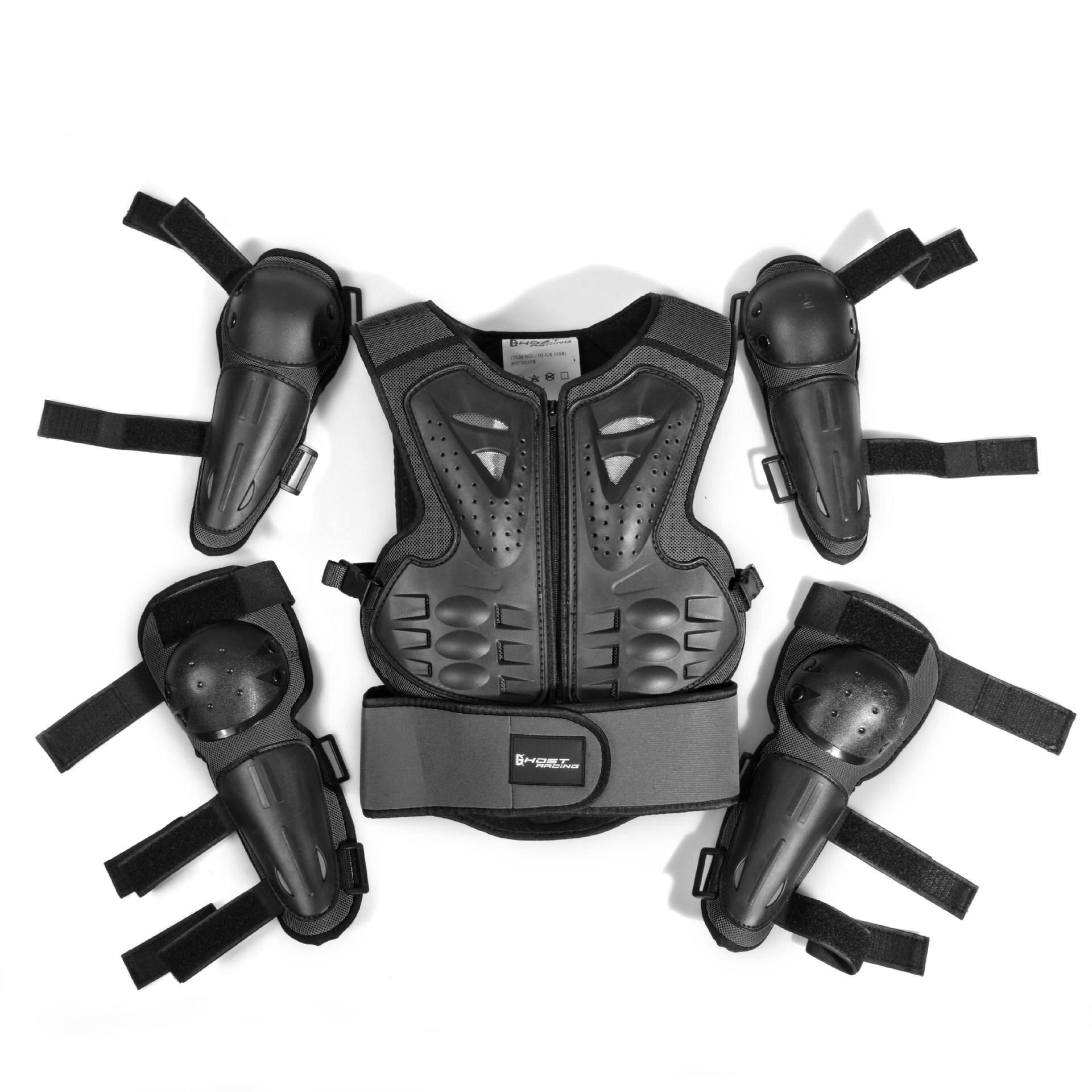 Veste de moto enfants équitation Protection armure moto Motocross équipement armure corporelle engrenages ptotectifs pour l'âge 5-12