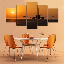Yellow Landscape Canvas Painting A Plane That Takes Off in the Sun Art Print Picture Wall Art Poster and Print Office Home Decor the dragonsitter takes off