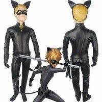 Boys Kids Miraculous Tales Of Ladybug Cat Noir Adrien Agreste Cat Noir Jumpsuit Outfit Full Set