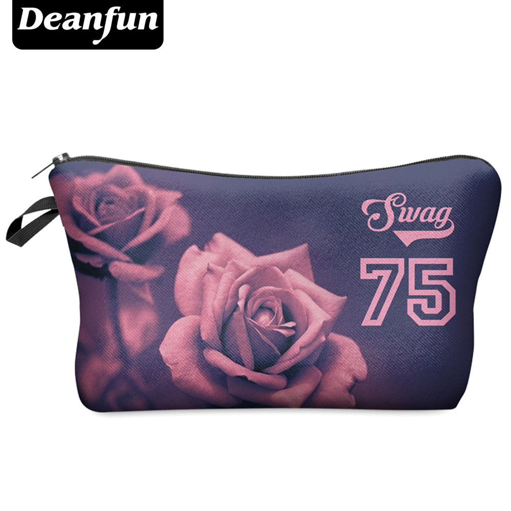 Deanfun 3D Printing Travel Cosmetic Bag  Hot-selling Women Brand Small H43 deanfun travel cosmetic bag 2016 hot selling women brand small makeup case 3d printing christmas gift water pig h46