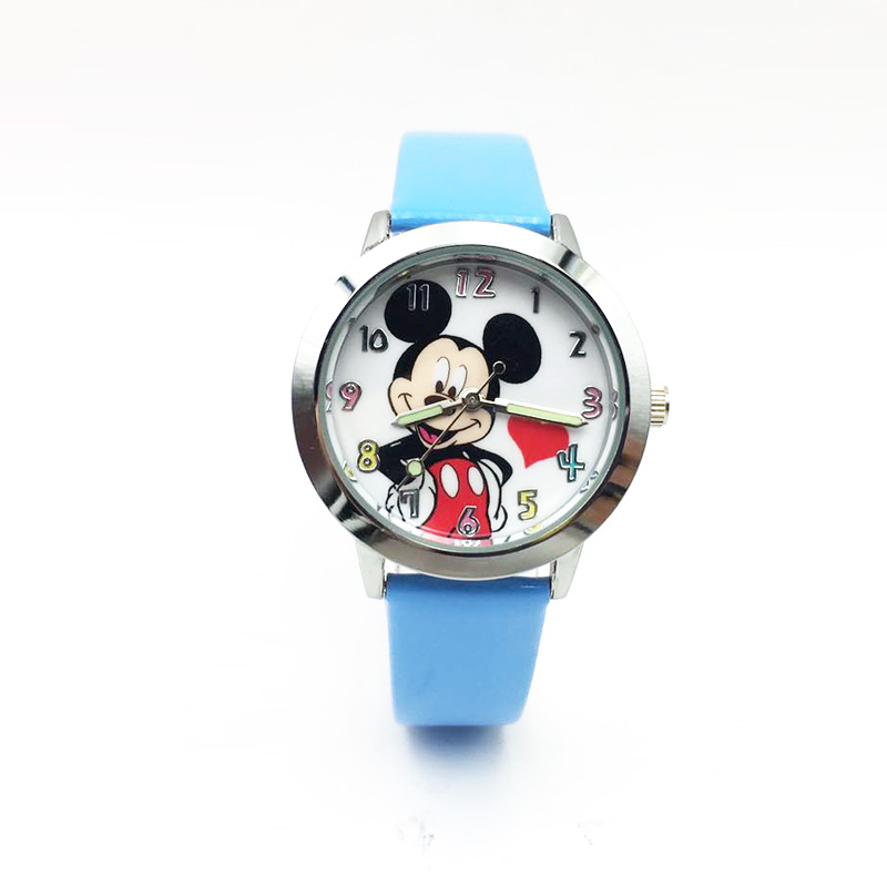 Quartz Kids Watch Cartoon Watches For Children Girls Boys Students Wrist Watch PU Leather Luminous Hands Wristwatch