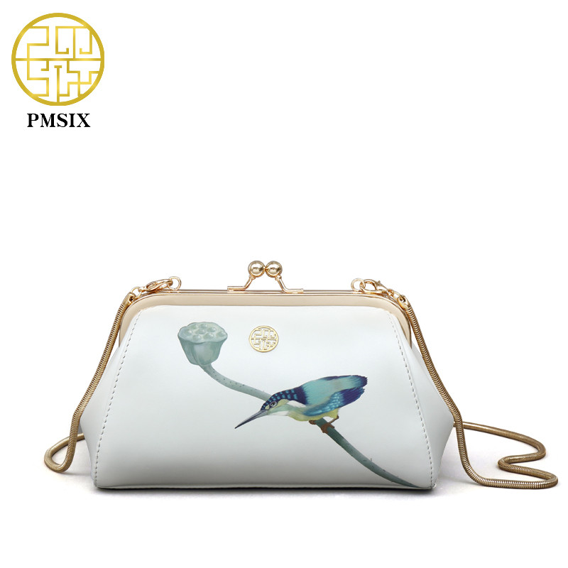 PMSIX Printing Designer Leather Chain Shoulder Bag Mini Women Messenger Bags Small Crossbody bags handbags women famous brands miwind f graffiti istitching chain messenger chain bag women s premium lady oblique crossbody shoulder bags famous brands c c