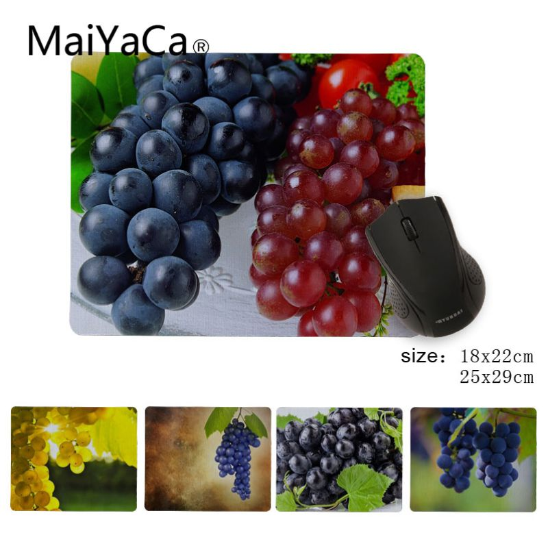 MaiYaCa Personalized Cool Fashion grape Durable Rubber Mouse Mat Pad Size 180x220x2mm and 250x290x2mm Small Mousepad