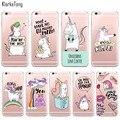 Cute Rainbow Unicorn Cases for iPhone 6 6s 5 5s SE 7/7Plus Transparent Portuguese Design Soft Silicone Case Capa