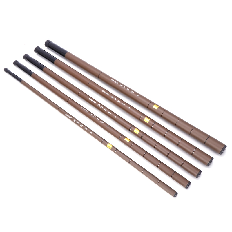Hot Sale Fishing Rod Ultralight Pole Super Hard Telescopic Carbon Fiber 2.7-6.3m Fishing Rod
