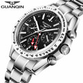 2016 Luxury Watch Men Top Brand GUANQIN Full Steel Waterproof Wristwatch Automatic Mechanical Watches Movement relogio masculino
