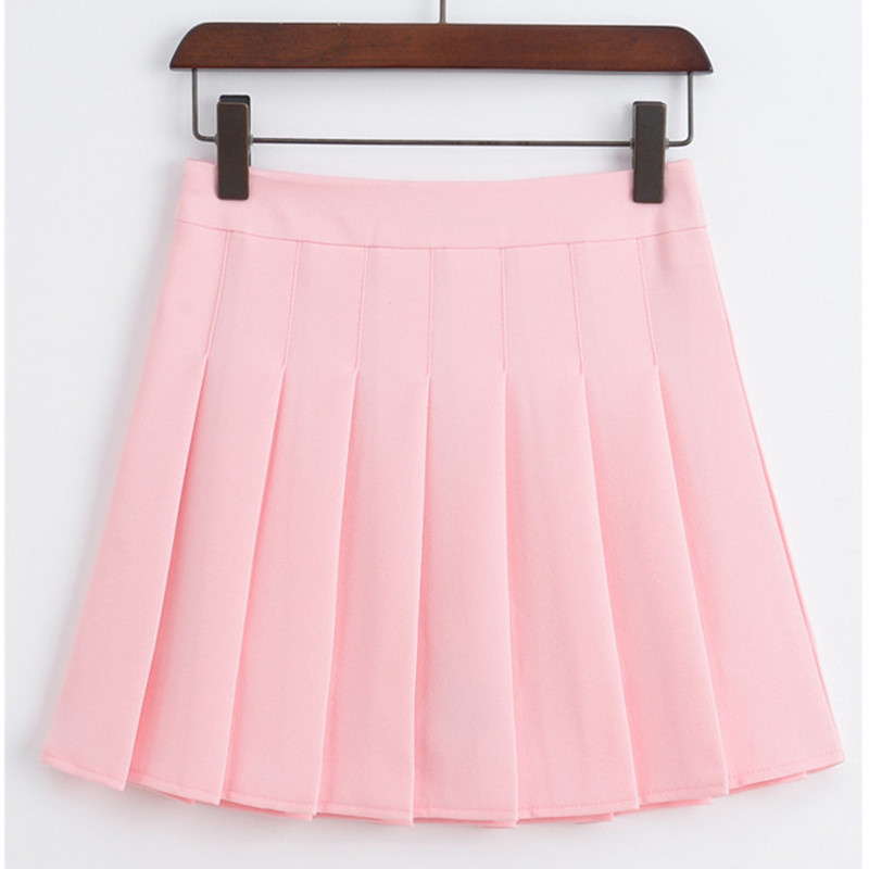 2017 Summer Fashion Sexy Women Short Skirts College Students Wind Code Slim High Waist Pleated Jupe Women Cute Tulle Short Skirt