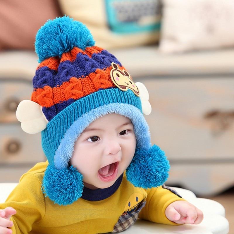 웃 유Otoño invierno Bebé sombrero abeja linda con gorros de lana de ...