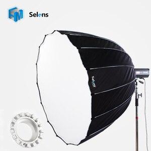 Эленс 150 см Огромный диффузор с шестигранной головкой, софтбокс, боуенс балахр, Hensel Profoto Speedring, профессиональный модифицирующий осветитель