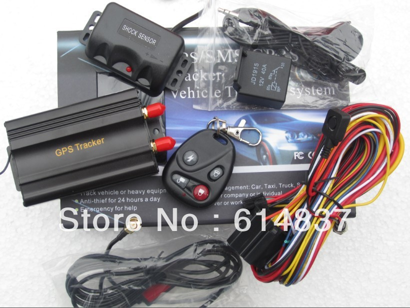 Tracker car tk103 Car safety GPS Tracker TK103B + SHOCK Sensor SD card Slot Support 18 kinds of Languages Car ALARM Quadband