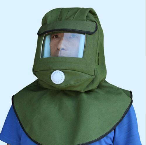 Sand Blasting Hood Cap Large Len Mask Anti-dust Hood Polishing Protective