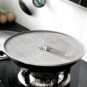 Image 2 - 3 Pieces Splatter Screen Mesh Pot Lid Cover Oil Frying Pan Lid Explosion Proof Smoke Splash Proof Insulation Oil Filter Cover