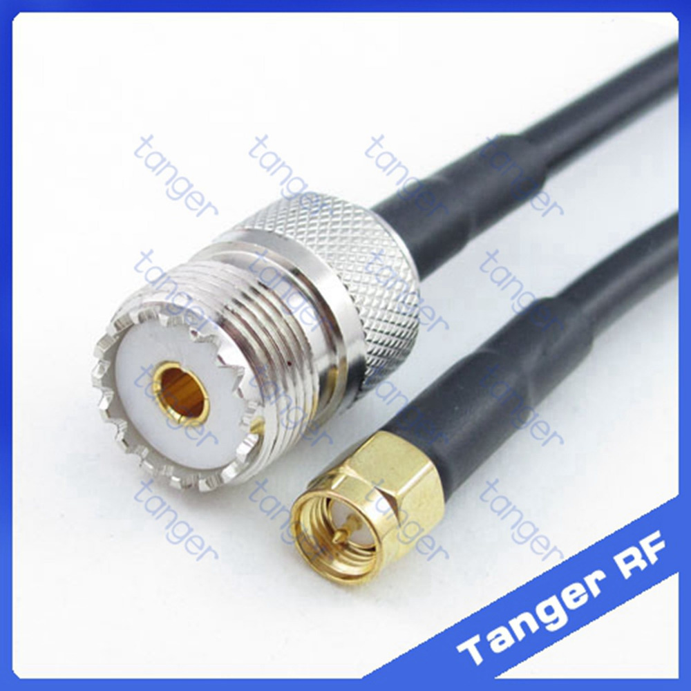 High quality Hot Sale UHF female jack SO239 SL16 to SMA male plug connector  RF RG58 Pigtail Jumper Coaxial Cable 20inch 50cm f type female jack to sma male plug straight rf coax adapter f connector to sma convertor