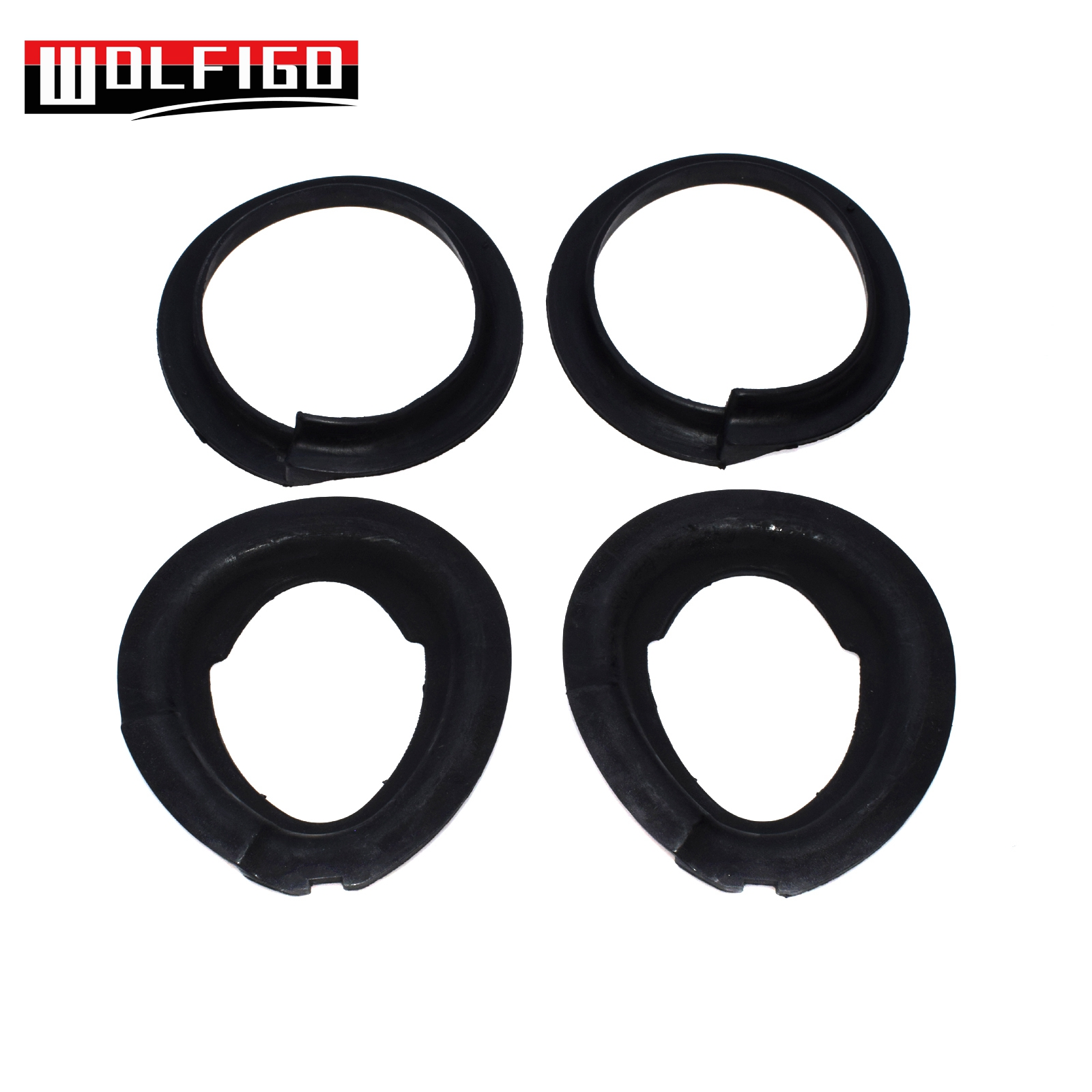 WOLFIGO 1PC / 2PCS / 4PCS Spring Pad Front Upper Front Lower Suspension Spring Insulator For E39 E46 E85 31331096664,31331091867