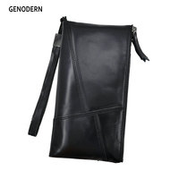New Arrival Genuine Leather Male Purse With Phone Pocket Cowhide Long Male Purses GENODERN Men S