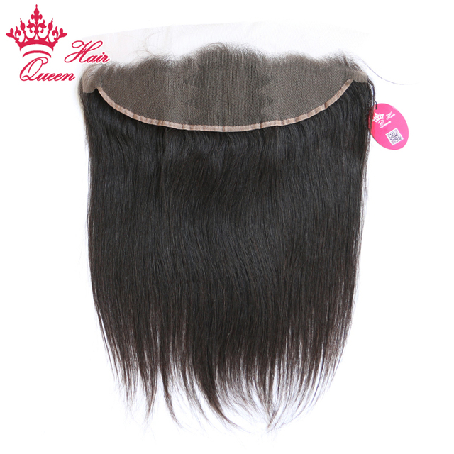 Queen Hair Brazilian Straight Hair Free Part Frontal 100% Human Hair 13x4 Ear To Ear Lace Frontal Remy Hair Free Shipping