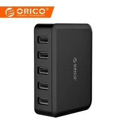 ORICO 5 puertos 8A 40 W de alta velocidad escritorio cargador inteligente para iPhone 5 5 5 6 6 7 Galaxy S7 Xiaomi mi 5 HTC 10 Ipad teléfono cargador de Samsung