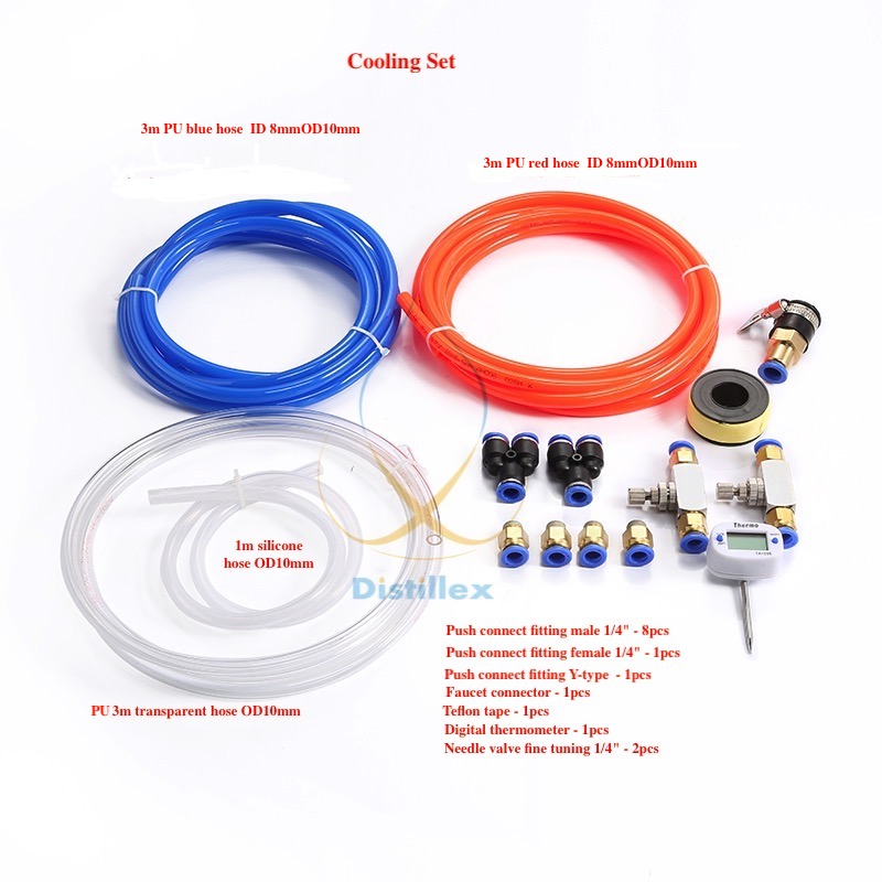 Hose kit for water cooling system for 1/4 male thread